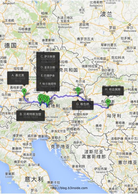 行程路线图