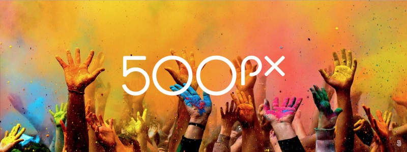 500px的logo氛围图